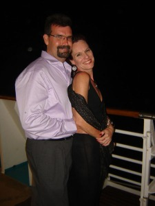 Ad and I on the cruise